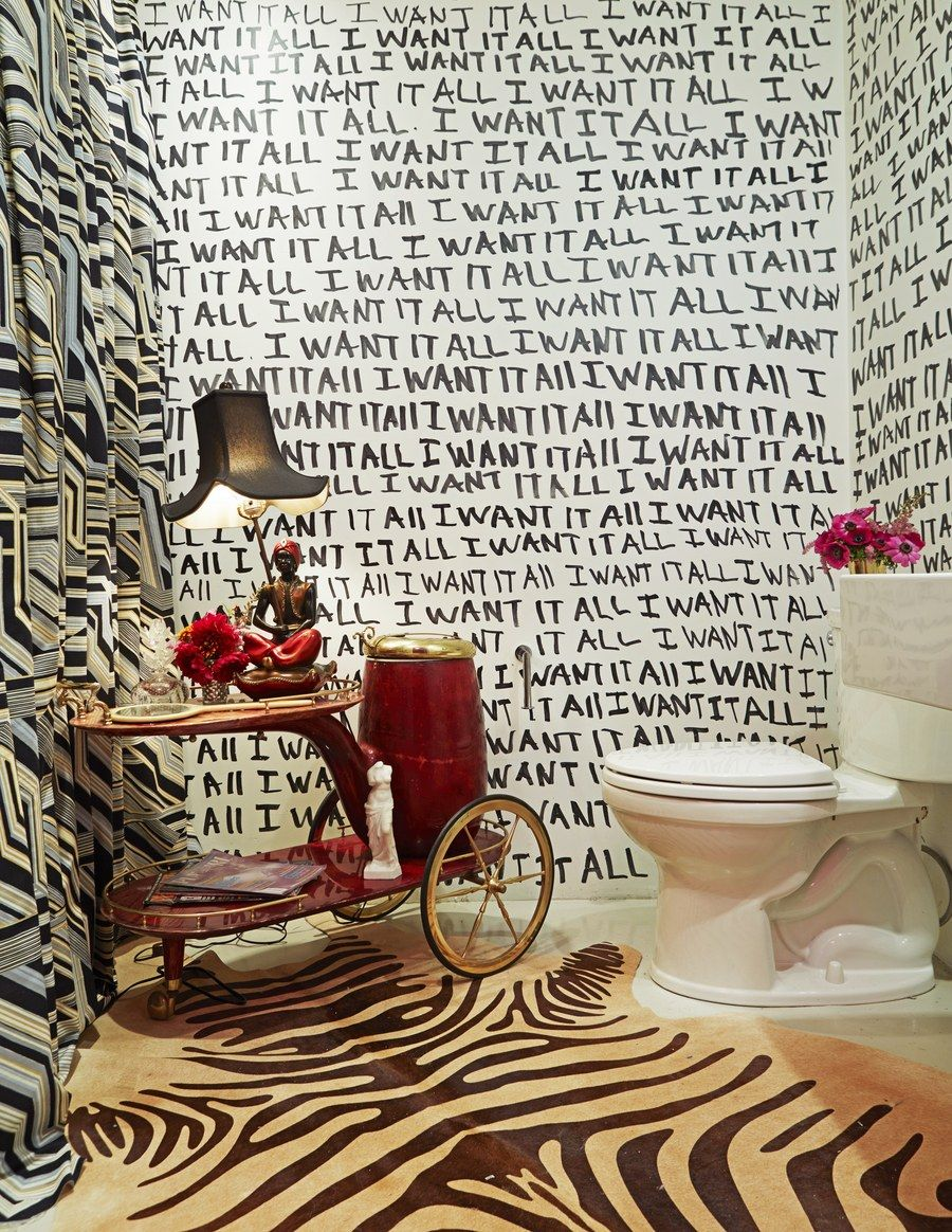 The bath is a study in pattern mixing apartment pinterest