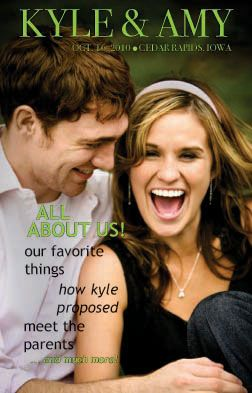 Wedzine (wedding magazine) instead of programs at the wedding...Love this idea!