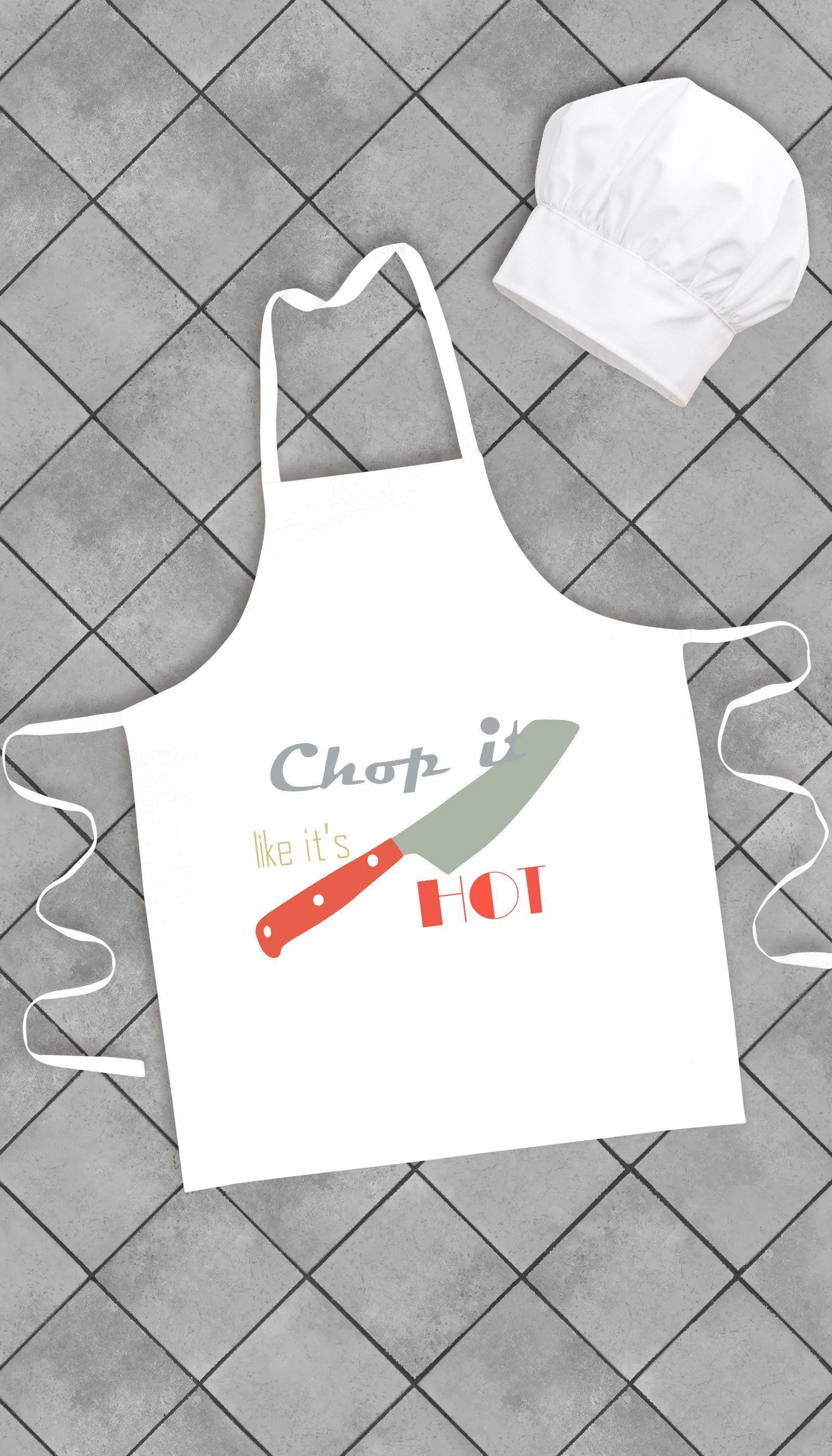 chop it like it's hot funny kitchen apron | kitchen humor