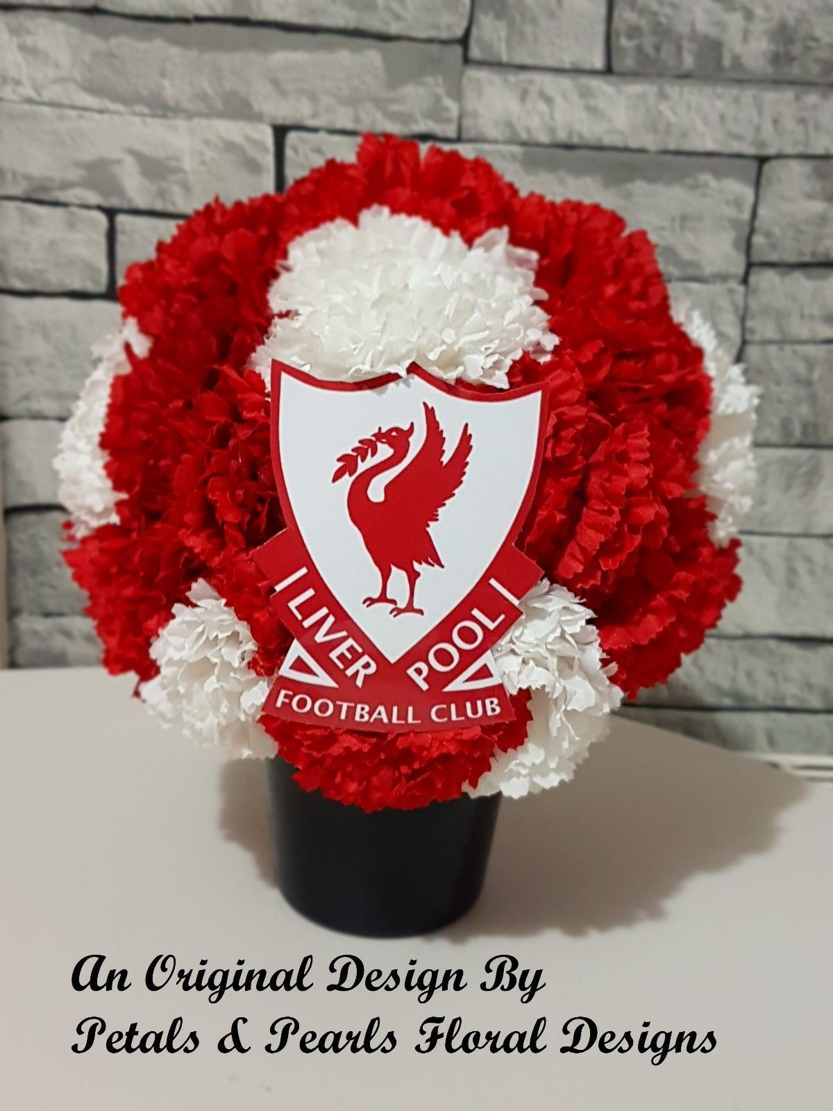 Liverpool Football Club Funeral Wreath Round Grave Memorial Tribute