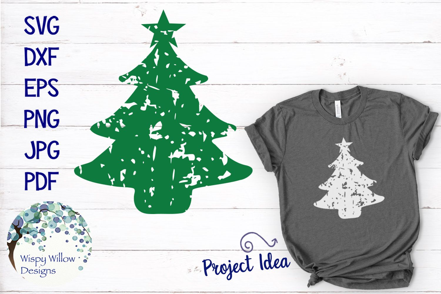 14b85af55c9f Distressed Grunge Christmas Tree SVG - SoFontsy -Commercial Use Christmas  Tree SVG  affiliate