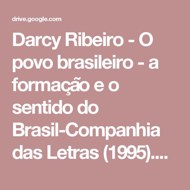 O Povo Brasileiro Pdf