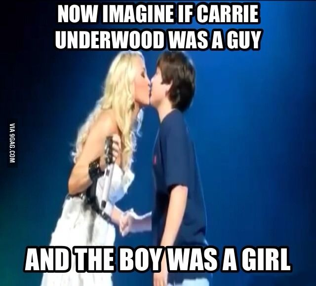 Carrie Underwood Gives A 12 Year Old Boy His First Kiss 12 Year