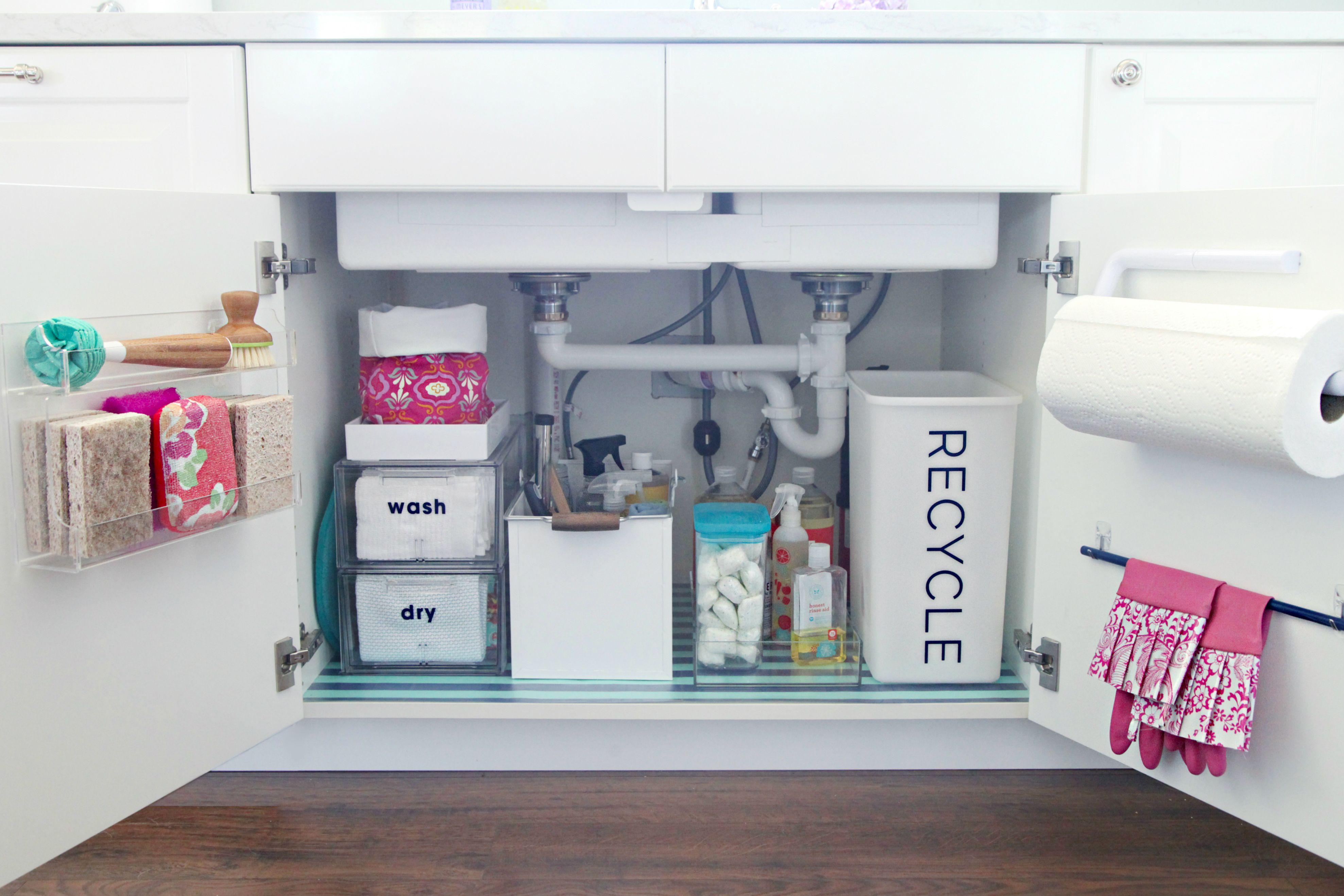 Organizing Under the Kitchen Sink   Kitchen Sink Organization ...