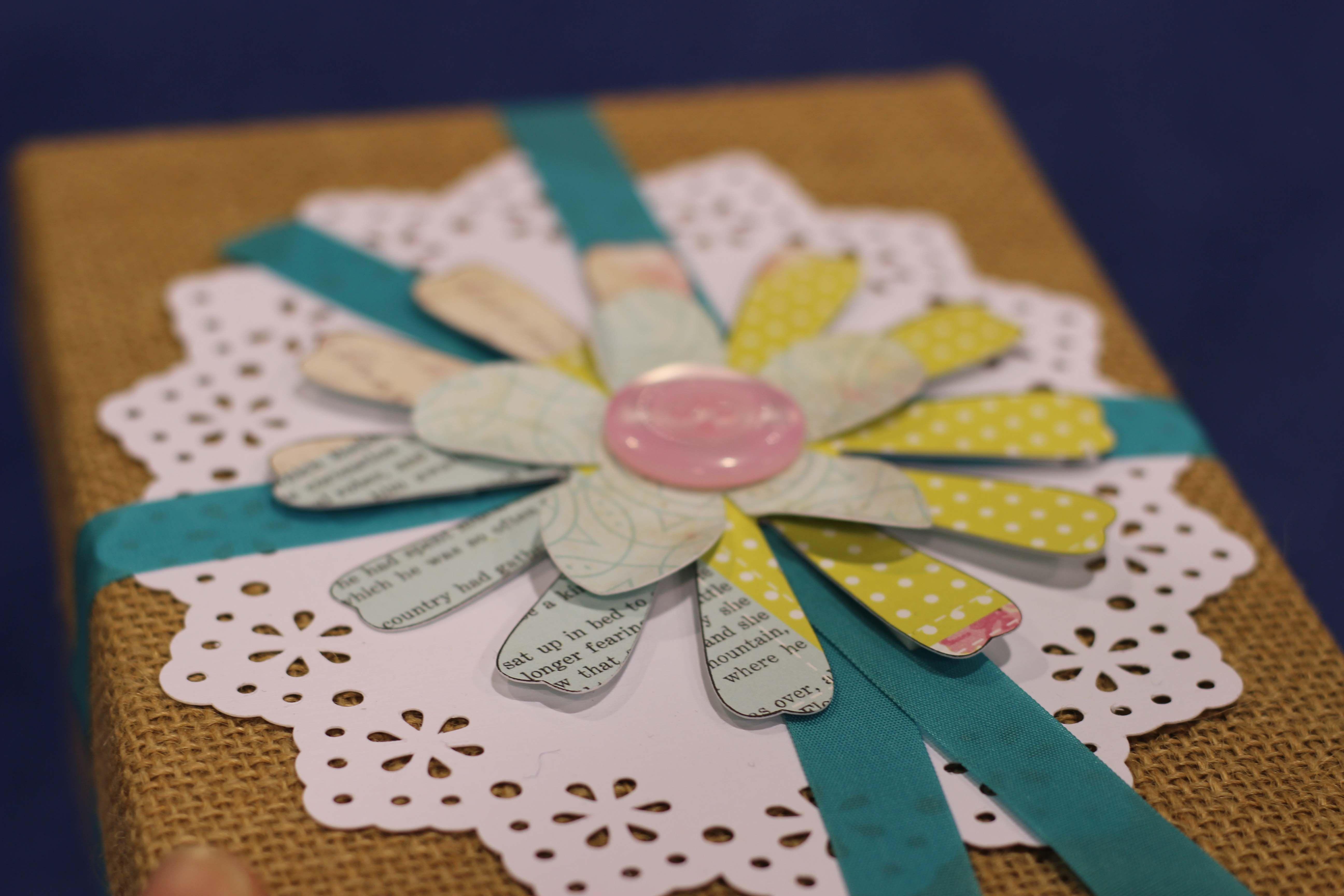 Brother burlap die cut paper flowers gift wrapping inspiration brother burlap die cut paper flowers gift wrapping inspiration mightylinksfo