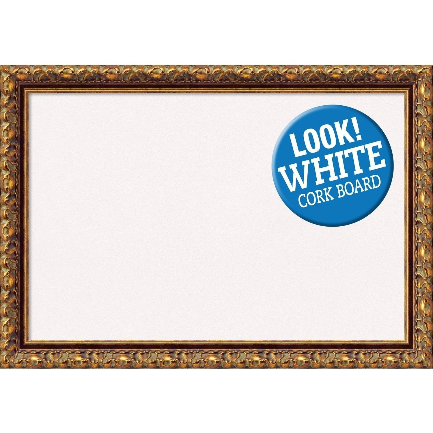 Amanti Art Framed White Cork Board, Antique Bronze (small - 20 x 14 ...