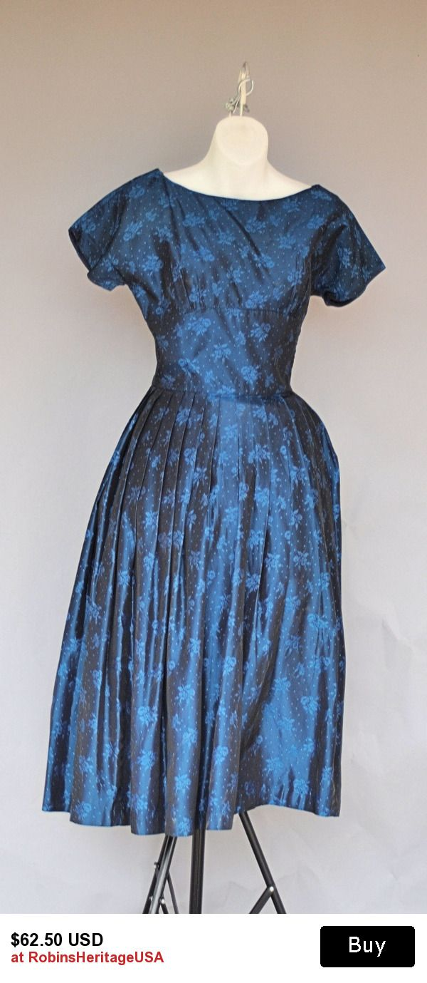 1950 Prom Dress, Midnight Blue Dotted Swiss, Fit and Flare. | Prom ...