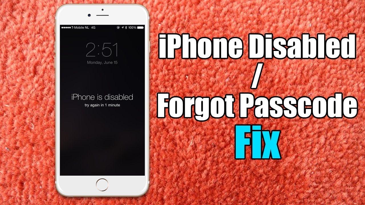Iphone disabled passcode iphone fix hard reset