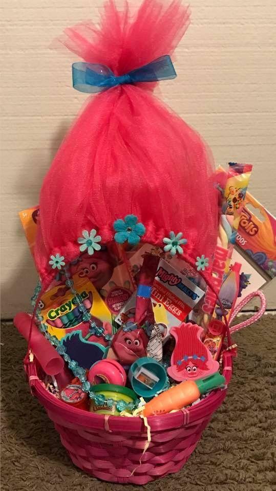Troll easter basket easter baskets i made pinterest easter troll easter basket negle Images
