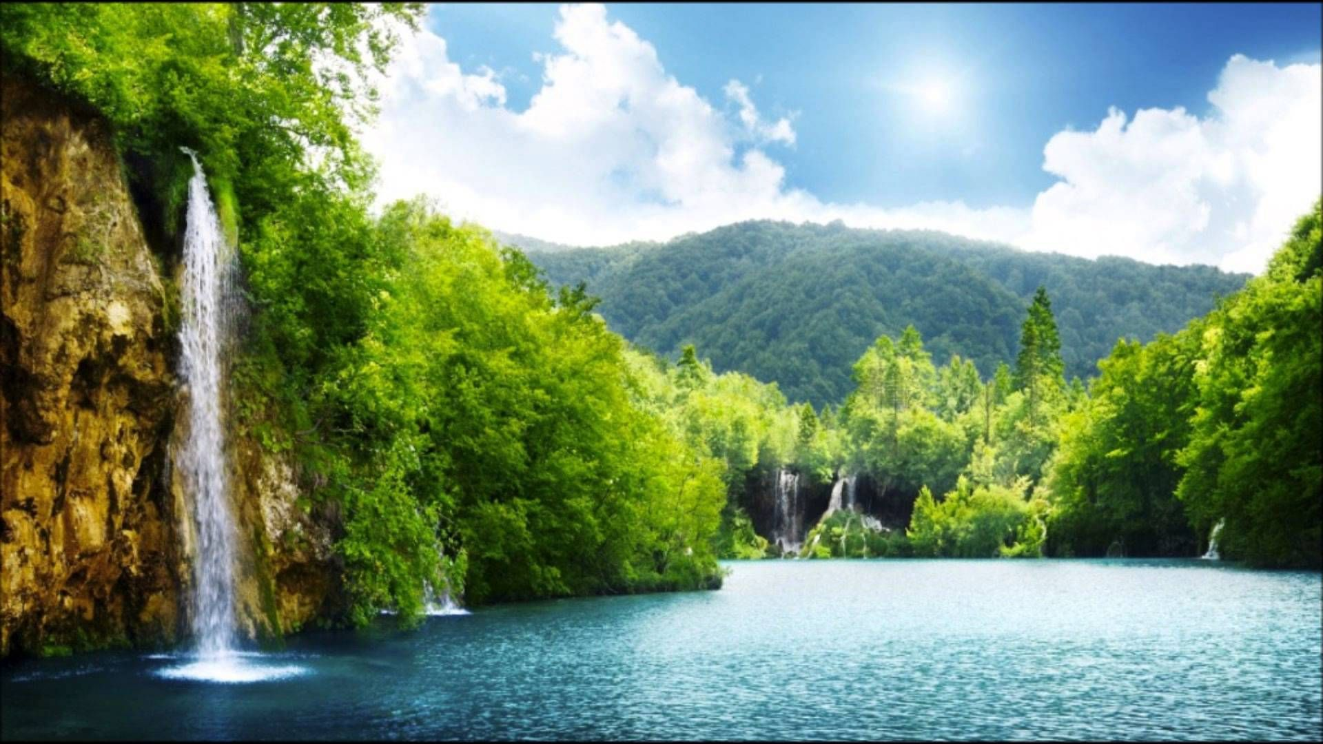 Beautiful Day In Paradise Hd Youtube Waterfall Wallpaper Scenery Wallpaper Nature Wallpaper