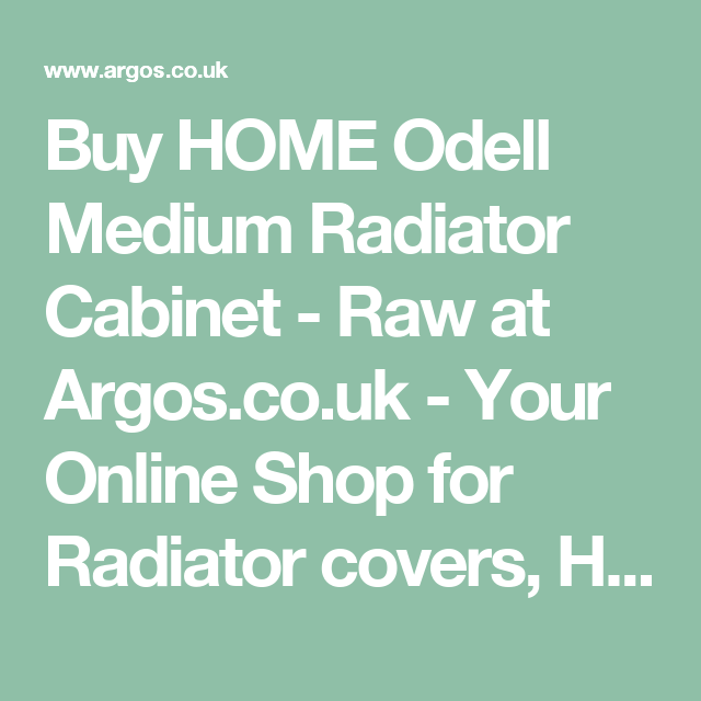 Buy HOME Odell Medium Radiator Cabinet   Raw at Argos co uk   Your. Buy HOME Odell Medium Radiator Cabinet   Raw at Argos co uk   Your