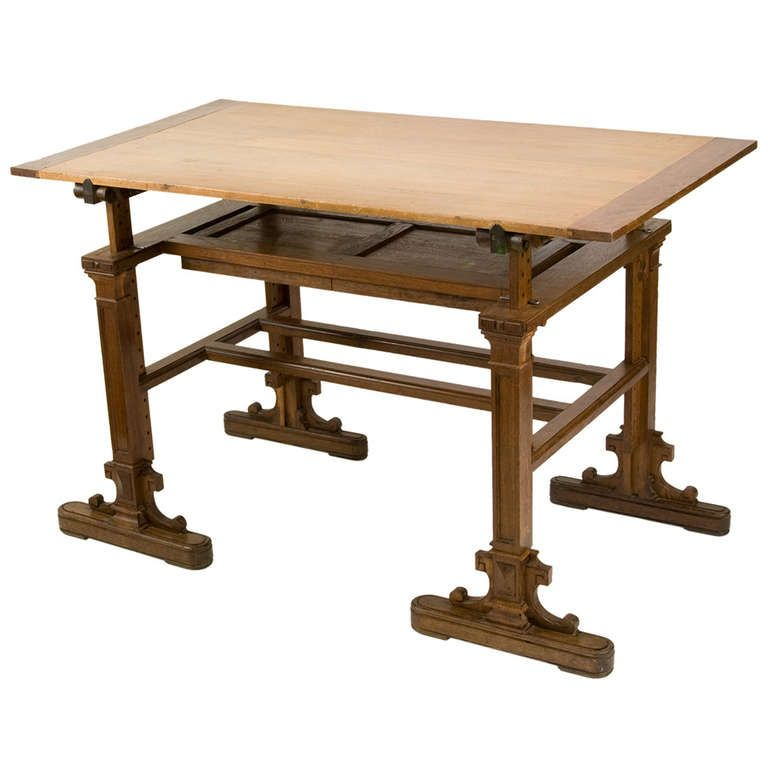 19th century french architectural drafting table | writing table