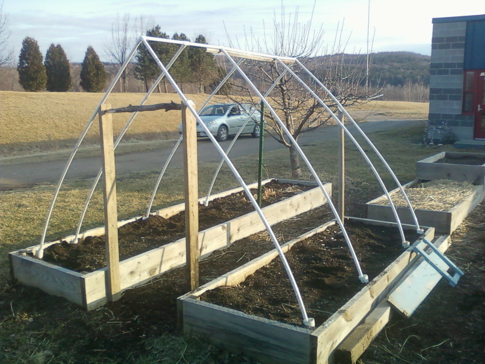 Clever Hoop House For Raised Beds Outdoor Gardens