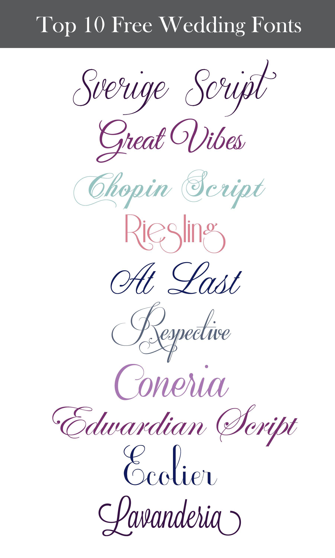 free wedding fonts # 11