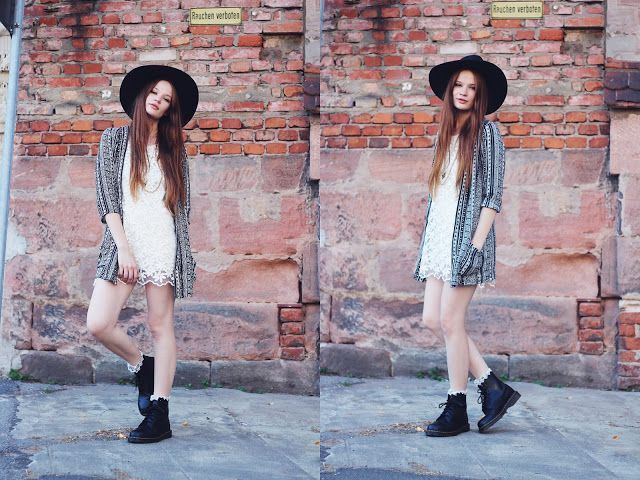 Long cardigan dress with drmartens