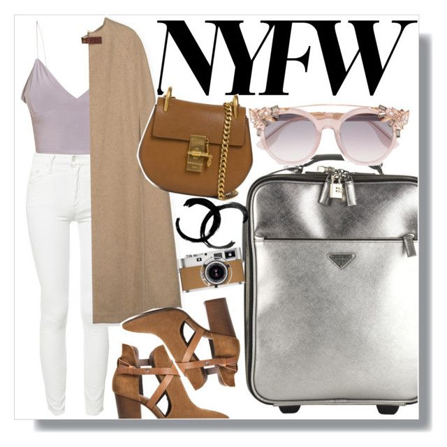 """""""WELCOME TO NEW YORK"""" by tamarasimic ❤ liked on Polyvore featuring Mother, Prada, Jimmy Choo, H London, Chloé, Hermès and NYFW"""