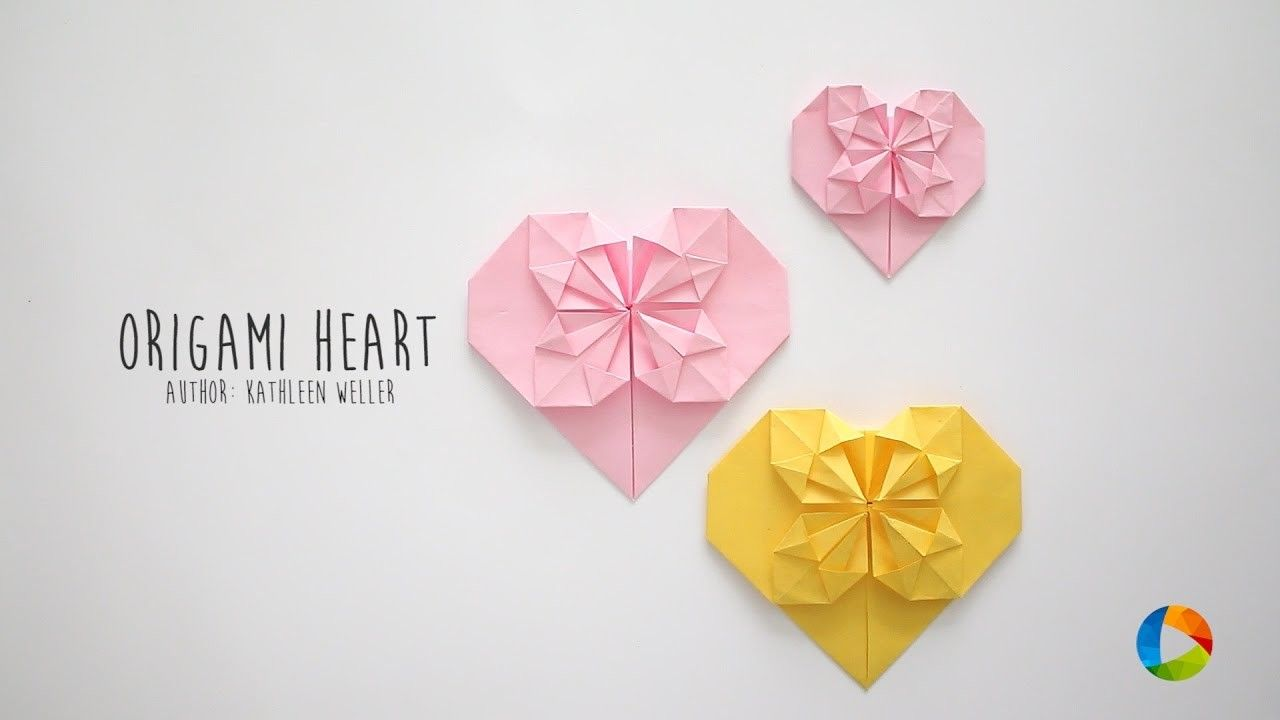 Diy Origami Heart Pinterest Origami Hearts Diy Origami And Origami