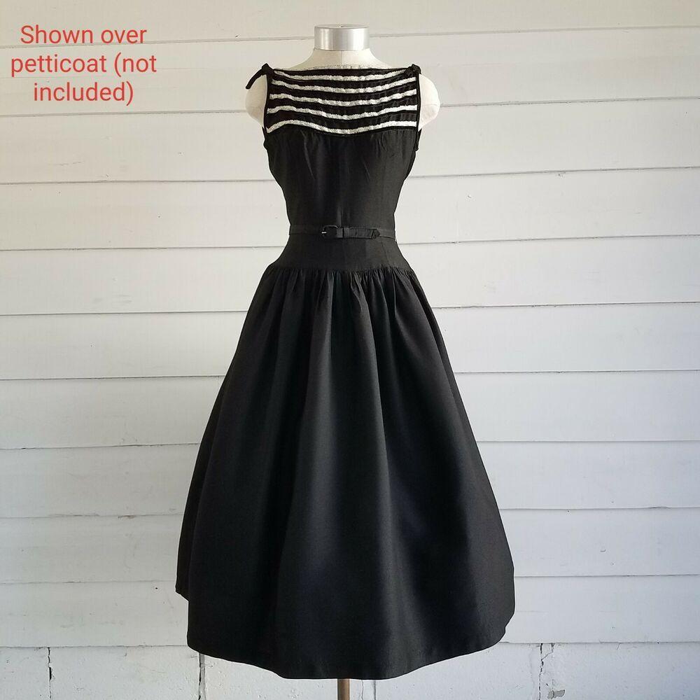 Vintage Black Dress 50 S 60 S Audrey Ebay Vintage Black Dress Black Dress Pink Dress Short [ 1000 x 1000 Pixel ]