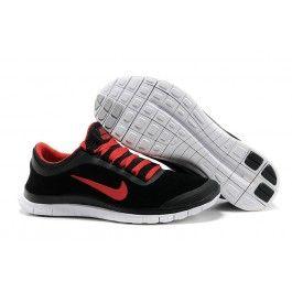 superior quality bd7a1 86cde Billig pris Nike Free 3.0 Lær Herresko Sort Rød Sko OnlineCool Nike Free  3.0