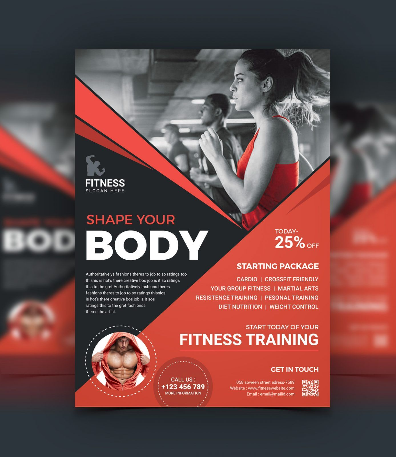 Kitchen Design Layout Template: Top Rated Fitness Center Flyer Design Template 001523