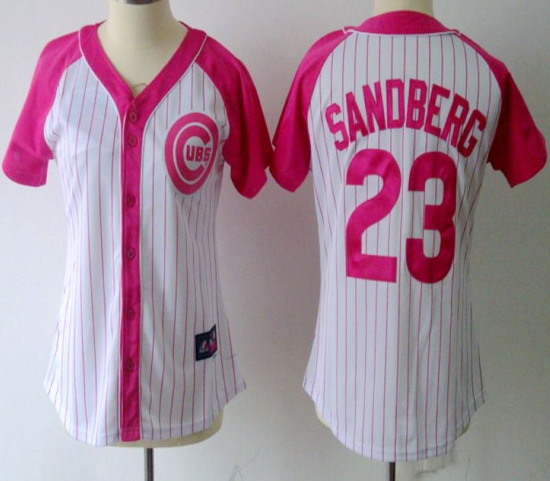 mlb chicago cubs 23 ryne sandberg women jersey