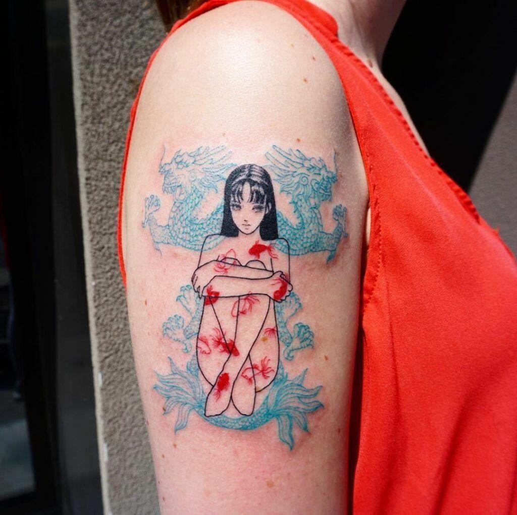 "Tattoos Ideas Inspired by Junji Ito's ""Tomie"" – Ito-junji-Tomie-x-noumen - annemarie"