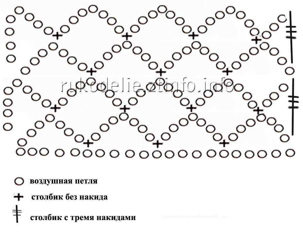 Сетка крючком со схемами и описанием фото 637