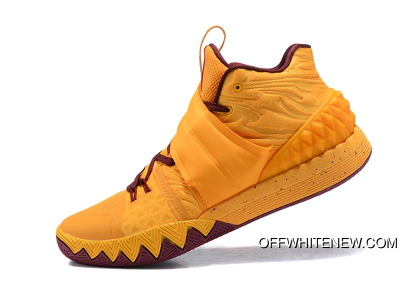 meet 92519 6c08e Super Deals Nike Kyrie S1 Hybrid Yellow Wine Red Basketball Shoes