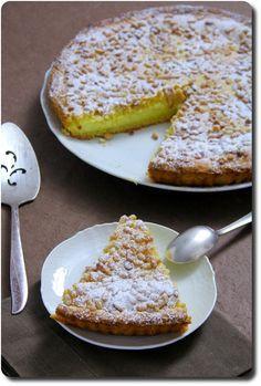 Photo of Torta della nonna- tourte à la crème patissière et aux amandes