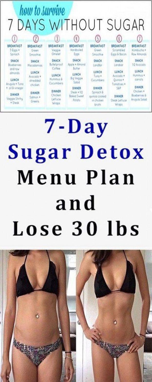 POPSUGAR #sugardetoxplan Lose 30 Pounds With This Great 7-Day Sugar Detox Menu Plan! #detoxdiet #sugardetoxplan