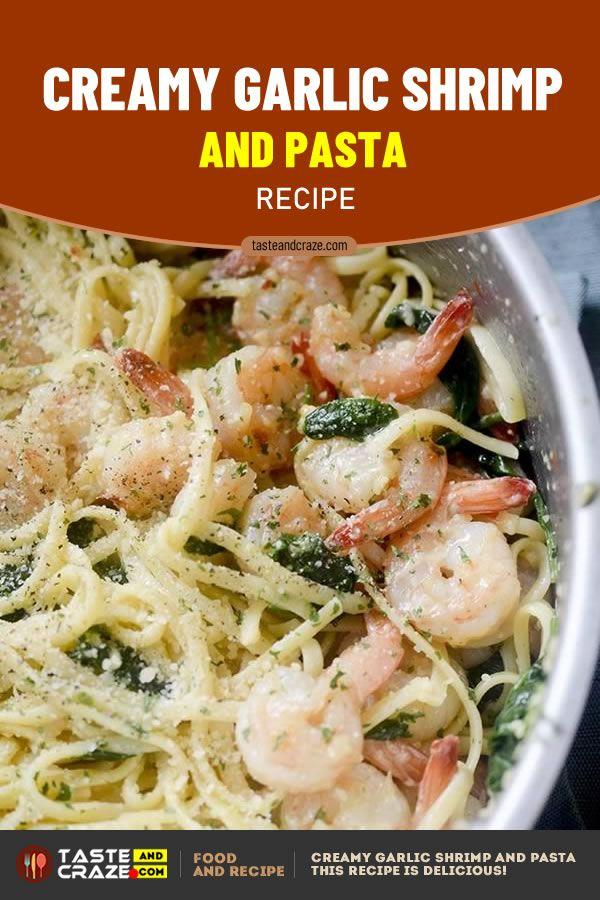 Creamy Garlic Shrimp and Pasta Recipe #CreamyRecipe #GarlicRecipe #ShrimpRecipe #PastaRecipe #ShrimpandPastaRecipe #ShrimpandPasta #ShrimPastaRecipe #ShrimpPasta #GarlicShrimp #garlicshrimprecipes