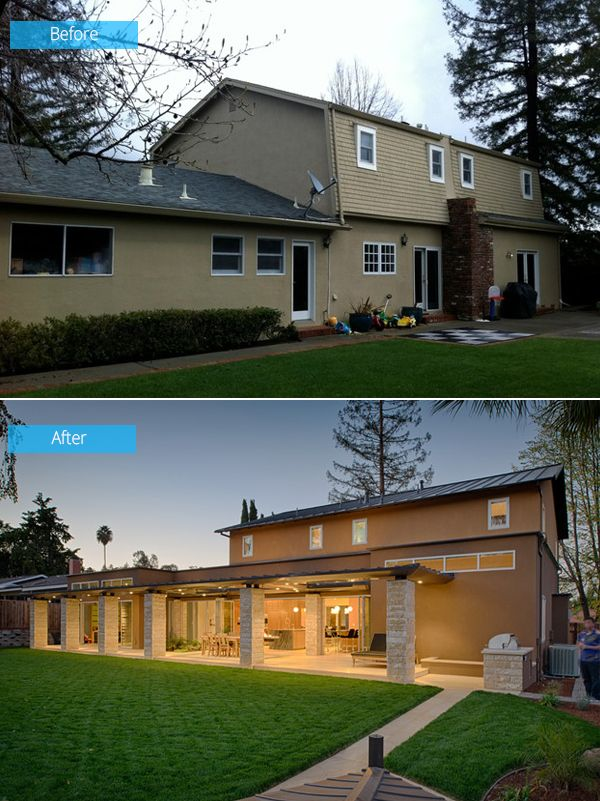 Before And After Old House Turns Into A Kid Friendly Modern Home Home Design Lover Home Exterior Makeover Exterior House Remodel House Exterior