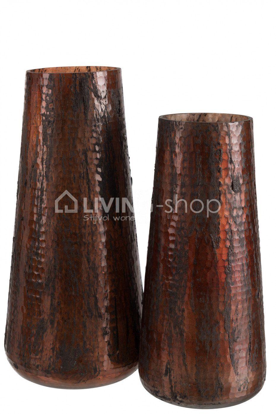 J line Vazen cognac glas J-LINE webshop LIVING-shop.eu | DECORATIE ...