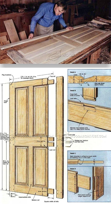 Making Period Doors Door Construction And Techniques Woodarchivist Com Woodworking Plans Diy Woodworking Plans Wooden Door Design