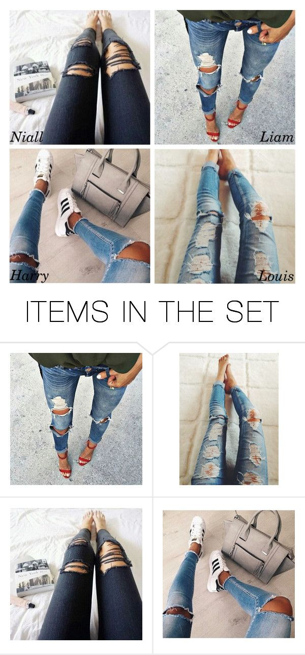 """""""Ripped jeans"""" by perfectharry ❤ liked on Polyvore featuring art"""