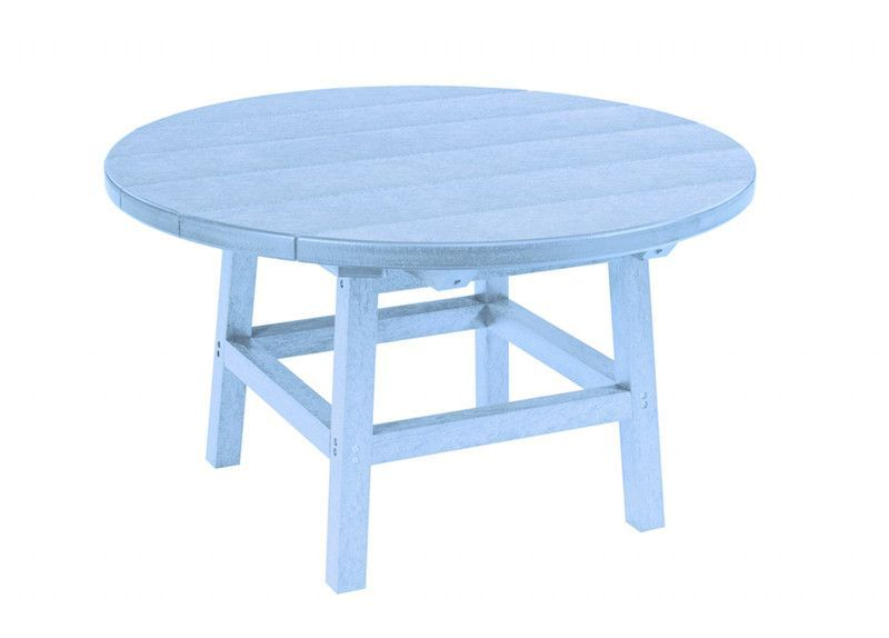"""C.R. Plastic Products TBT01 32"""" Round Cocktail Table with Legs"""