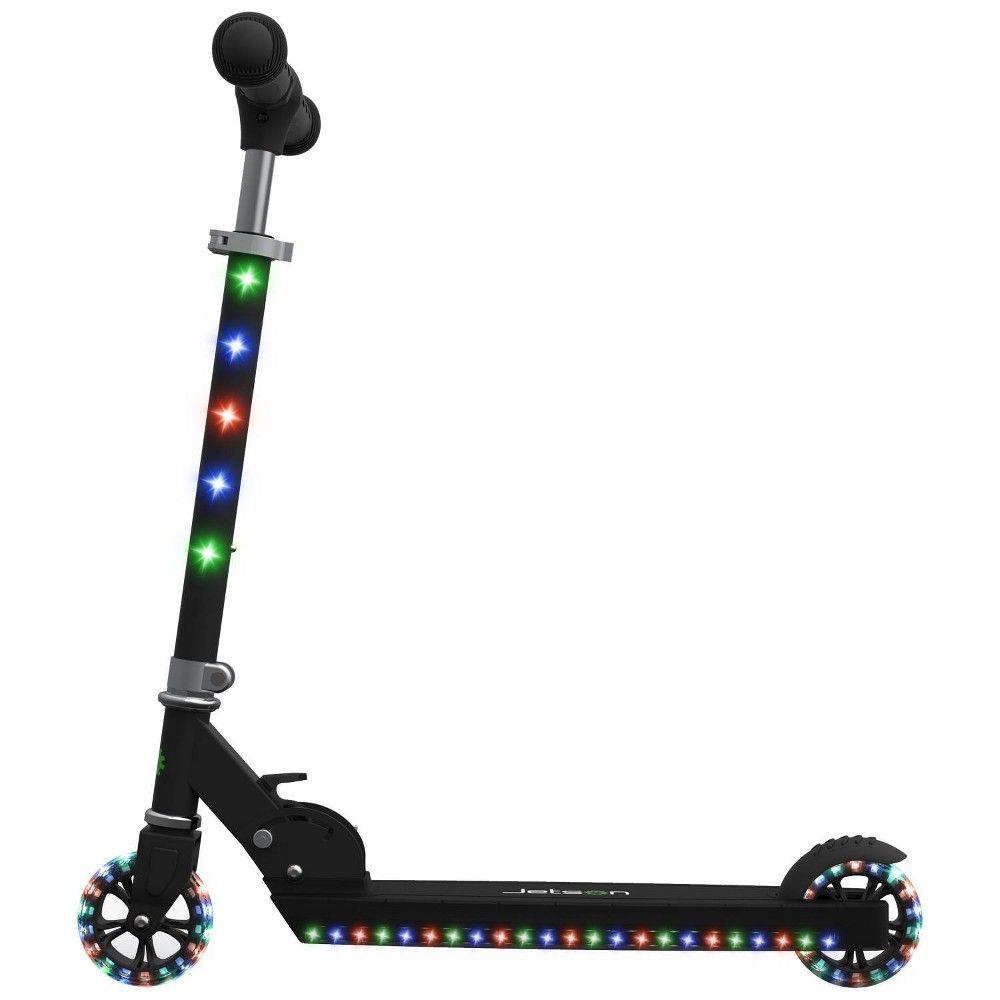 Jetson Jupiter Kick Scooter with Led Lights Black Kick