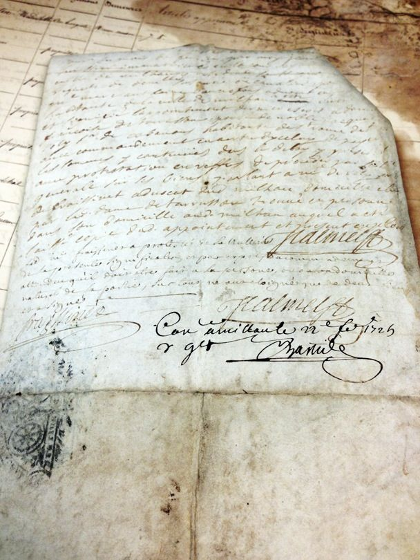 Image of 1725 French Vellum Document #2