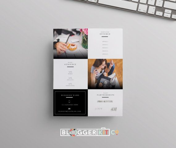 TwoPage Media Kit Template  Press Kit Template  Electronic