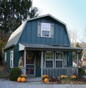 Gambrel Roof Gives Much More Headspace On The Upper Floor That The