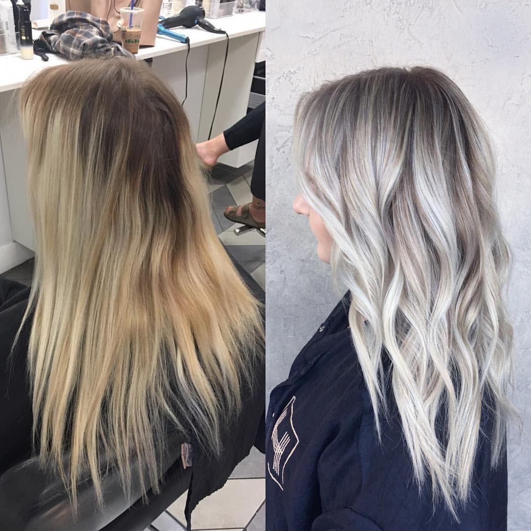 "BRITTANY GONZALEZ on Instagram: ""Babylighted & blended ✨ #babylights #sombre #icyblonde #brightblonde #prettyhair #hairinspo #hairbybrittanyy"" #ashblondebalayage"