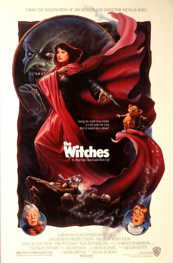 "WITCHES,THE. Original 1989 US 27""x41"" Theater Movie Poster"