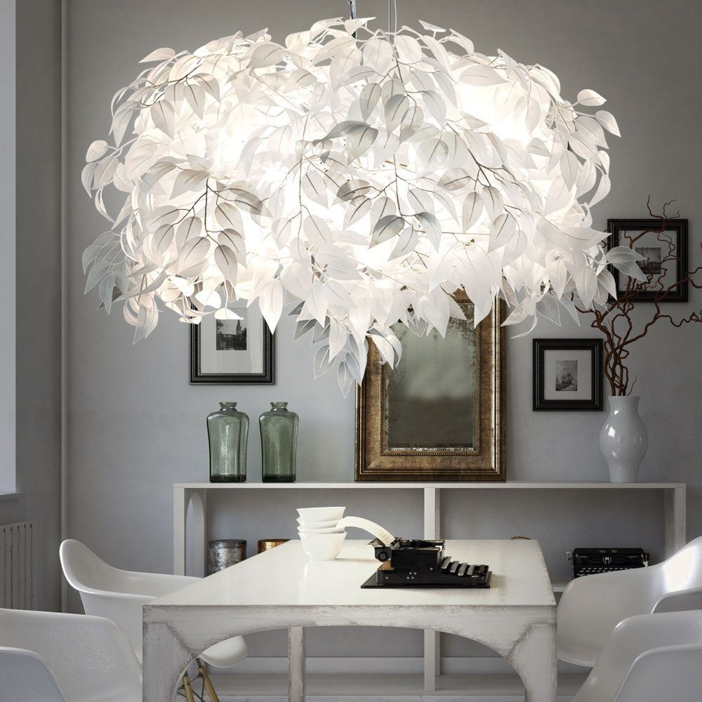 details zu led blätter design pendel leuchte wohn ess zimmer