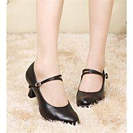 ce235d2f935 Non Customizable Women s Dance Shoes Belly   Latin   Samba Leather Cuban  Heel Black   White   Gold   Fuchsia   Other – USD   82.00