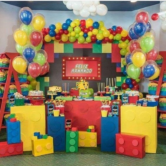 Decoracion fiesta infantil de lego para ni os niyah 4th for Decoraciones infantiles para ninos