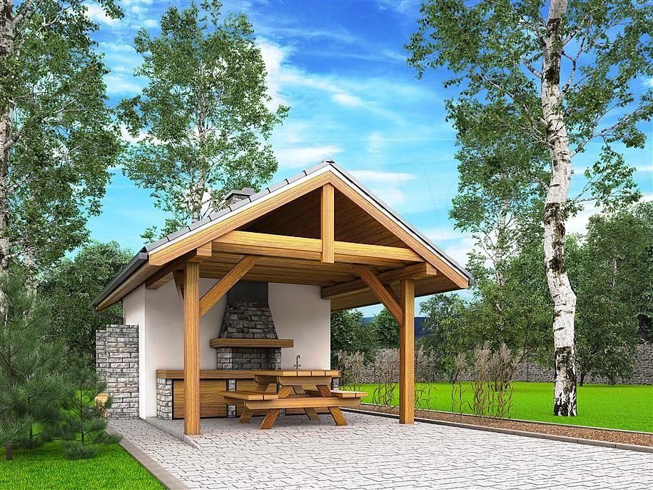 Projekt A2 Altana Ogrodowa Z Grillem Bbh1001 Projekty