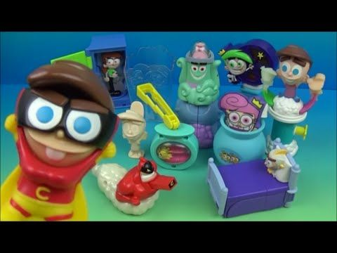 2004 The Fairly Oddparents Set Of 10 Burger King Kids Meal Toys Video Review Happy Meal Toys The Fairly Oddparents Kids Meals