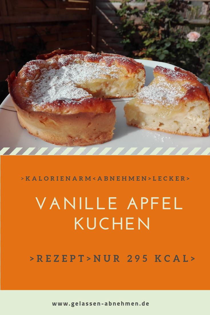 Ein Leckerer Kalorienarmer Vanille Apfel Kuchen Der Ganze Hat