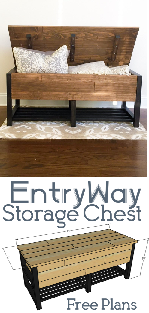 EntryWay Storage Chest | Entryway storage, Woodworking plans and ...