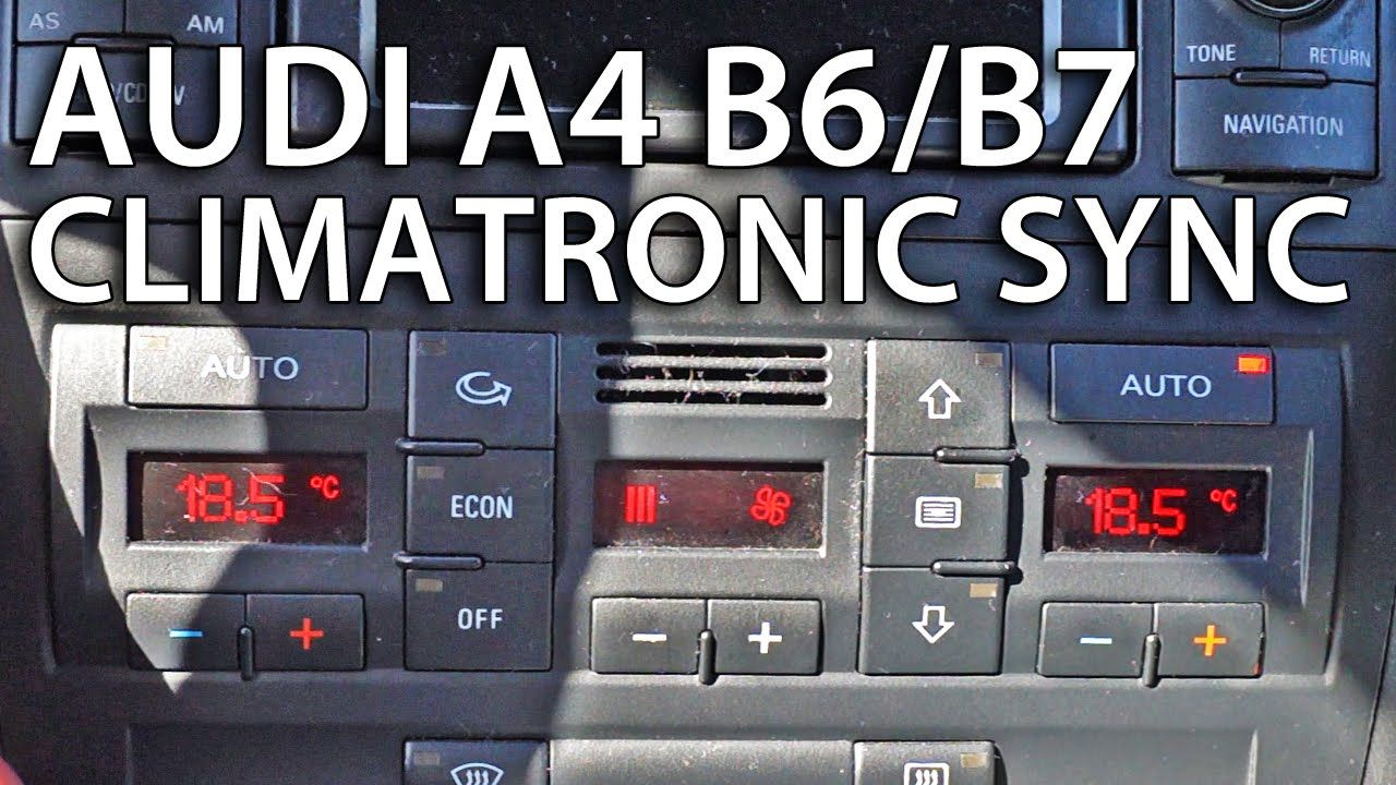 How To Sync Zones In Climatronic Audi A4 B6 B7 Tips Tricks Rs4 Fuse Box Cars